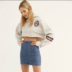 NWT Free people femme denim mini skirt size 2